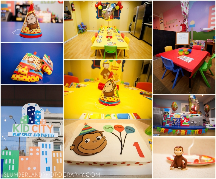 first birthday party kid city chicago il slumberland photography
